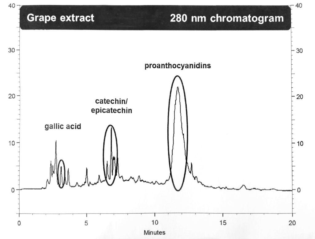 Esempio delle nostre analisi sui Polifenoli del Vino